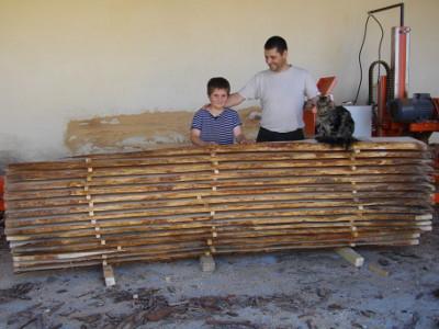 ruches en bois du Lubéron